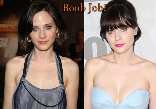 Zooey Deschanel Boobs Job