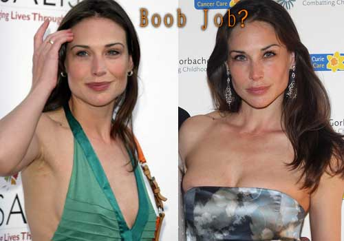 Claire Forlani facelift, Boob Job